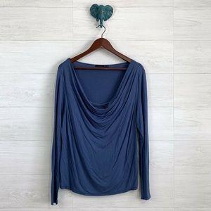 Cullen Drape Cowl Neck Long Sleeve Knit Top